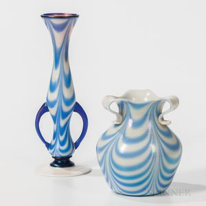 Two Imperial Art Glass Vases