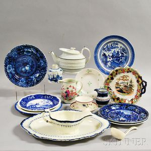 Seventeen English Ceramic Items