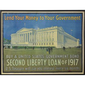 Framed WWI Lend Your Money To Your Government   Poster