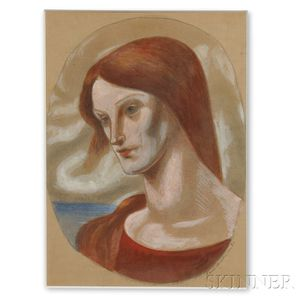 Kimon Nicolaides (American, 1892-1938)    Portrait of a Woman