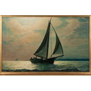 Attributed to James Gale Tyler (American, 1855-1931)    Sunset Sail