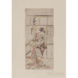 Unknown, Early Kabuki Woodblock Print