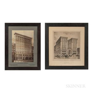 Two Vintage Large Format Images of Boston
