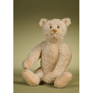 Steiff White Teddy Bear with Glass Eyes