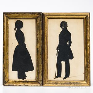 Two Full-length Profile Silhouettes