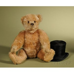 Steiff Apricot Teddy Bear with Top Hat