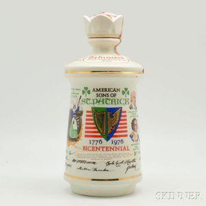 Old Fitzgerald American Sons of St. Patrick Bottle, 1 4/5-quart bottle
