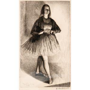 Gerald Leslie Brockhurst (British, 1890-1978)      Six Portrait Etchings: The Dancer (The Artist