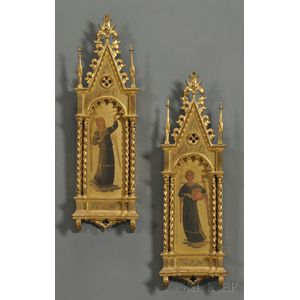 Pair of Grand Tour-style Gilded Angel Paintings