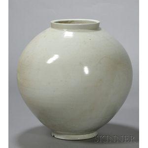 Large White Porcelain Jar