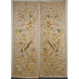 Pair of Large Embroideries