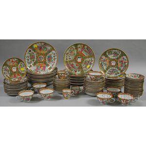Assembled Set of Rose Medallion Porcelain Tableware
