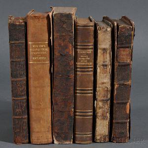 Mathematics, English, Six Volumes, 1705-1800.