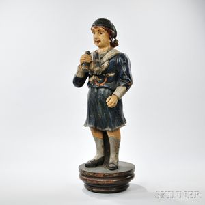 Carved and Painted Figure of a Sailor
