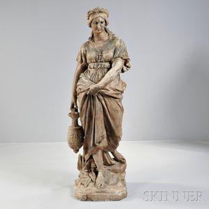 Continental Terra-cotta Figure of a Woman