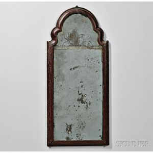 Red/Brown-painted Mirror