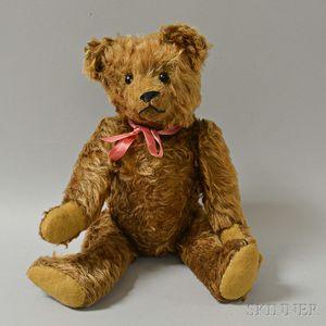 Early Articulated Cinnamon Mohair Teddy Bear