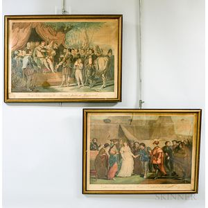 Two Framed Colnaghi, Sala & Co. Hand-colored Engravings