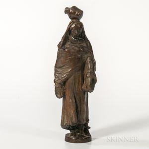 Benjamin Turner Kurtz (American, 1899-1966)    Bronze Figure of a Woman with a Jug