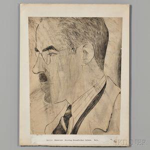 Cummings, Edward Estlin (1894-1962) Original Pen and Ink Drawing.