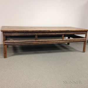Large Bamboo and Pine Low Table