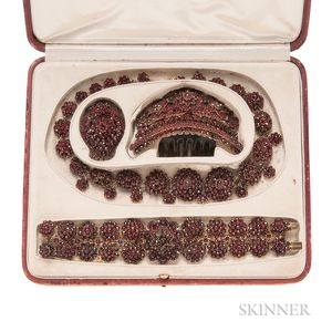 Antique Garnet Jewelry Suite