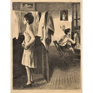 Raphael Soyer (American, 1899-1987)      My Studio