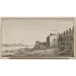 Wenzel Hollar (Bohemian, 1607-1677)        Lot of Two Unframed Etchings: View of Lambeth from Whitehall