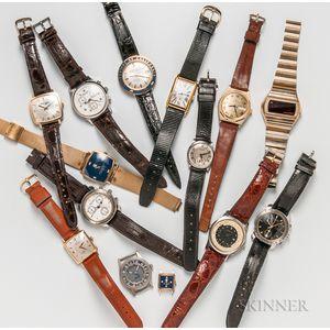 Fourteen Hamilton Wristwatches