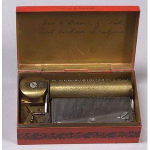 Musical Tinplate Snuff Box by Ducommun-Girod