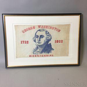 Framed Patriotic George Washington Bicentennial Textile