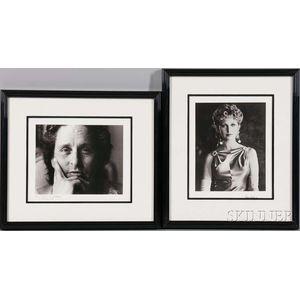 Roddy McDowall (English, 1928-1998)      Two Portraits: Morgan Fairchild, Long Beach