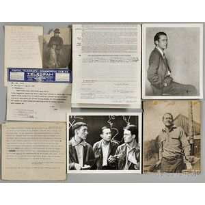 Cummings, Edward Estlin (1894-1962) Photos, Signed Deed, and Telegram.