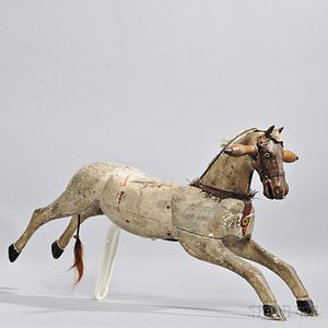 Painted and Carved Hobby Horse