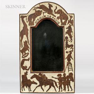 Jane Davenport (American, b. 1897)    Cirque de Paris   Carved Mirror Frame