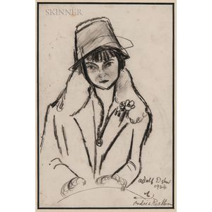 Adolf Arthur Dehn (American, 1895-1968)      Portrait of Andrée Ruellon.