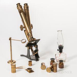 Smith & Beck Compound Binocular Microscope