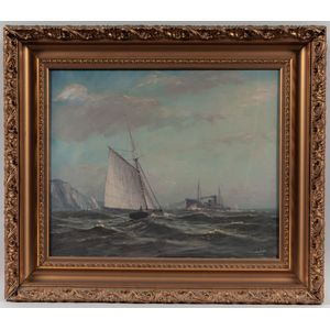D.A. Fisher (Maine/California, 1867-1940)      Two Maritime Scenes
