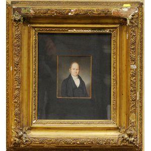 Portrait Miniature of New York Physician Dr. Thomas Cock,      c. 1840