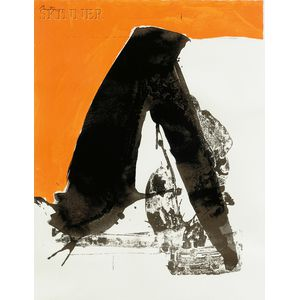 Robert Motherwell (American, 1915-1991)      Plate 9   from THE BASQUE SUITE