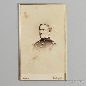Carte-de-visite of Admiral David Farragut