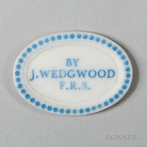 Wedgwood Solid White Jasper Pyrometer Medallion