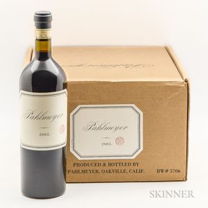 Pahlmeyer Proprietary Red 2003, 5 bottles