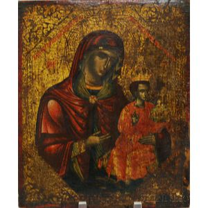 Modern Madonna and Child Icon