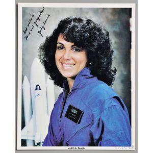 Resnik, Judith A. (1949-1986) Signed NASA Photograph.