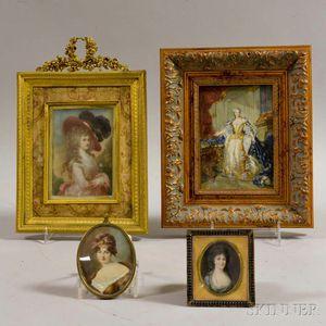 Four Framed Portraits of Women