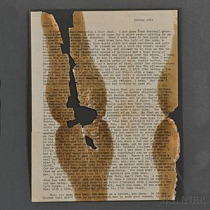 Kerouac, Jack (1922-1969) Typed Letters, Fragments, [February 1941]