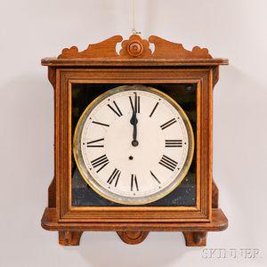 "Ingraham Oak ""Lobby"" Wall Clock"
