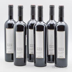 Valdicava (Vincenzo Abbruzzese) Brunello di Montalcino Riserva Madonna del Piano 2001, 6 bottles