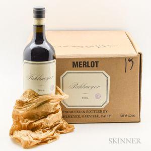 Pahlmeyer Merlot 2006, 5 bottles